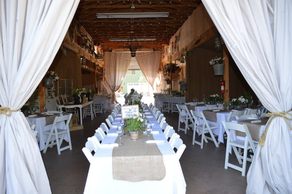 Reception Seating inside Barn - Country Wedding
