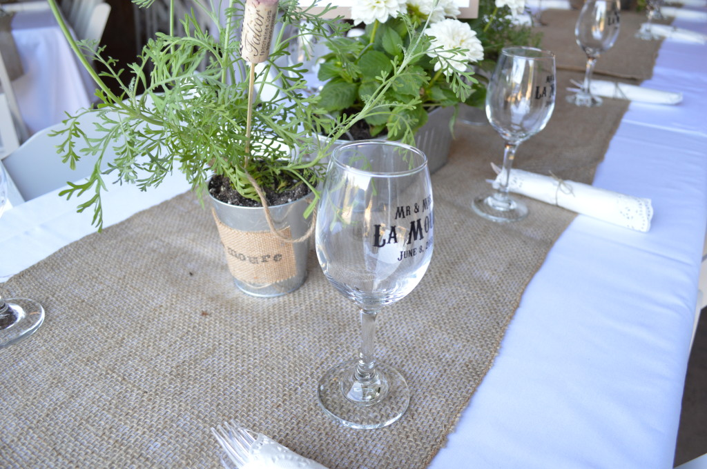 Rustic Country Centerpiece and Table Setting