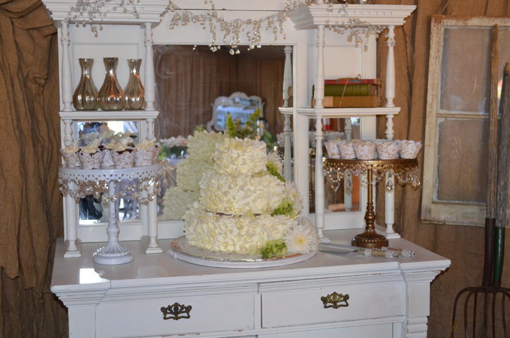 Cake and Dessert Table - Country Wedding